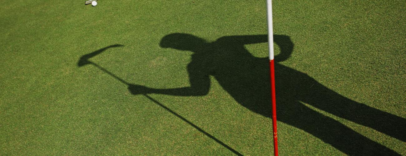tall golfer